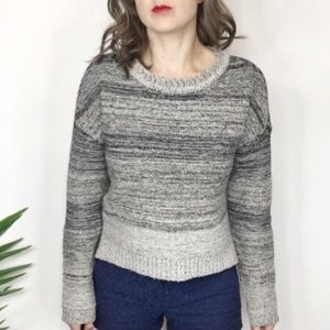 MAEVE knit sweater gray ombré cropped 0279